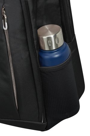 Plecak posiada boczną siatke na butelkę