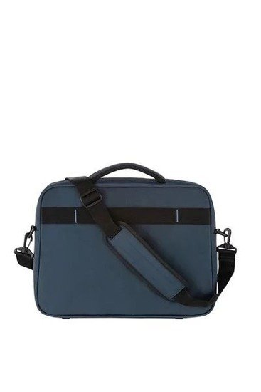 Torba z tyłu posiada tunel dzięki, któremu można nałożyć ją na stelaż innego bagażu