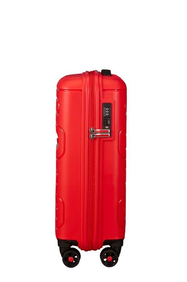 Bagaż posiada wewnątrz dwie cześci do pakowania. Jedna zamykana na suwak, druga z pasami przytrzymującymi ubrania