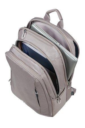 """Plecak posiada miejsce na laptopa 14,1"""" kieszeń główną i zewnętrzne kieszenie"""