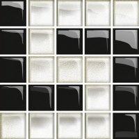Glass White Black Mosaic D New 14,8x14,8