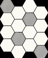 Mozaika Bianco Hexagon Mix 22x25,5