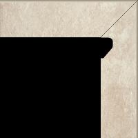 Scandiano Beige Cokół 2 El. Prawy 8,1x30