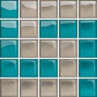 Glass Azure Dark Mosaic D New 14,8x14,8