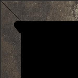 Scandiano Brown Cokół 2 El. Lewy 8,1x30