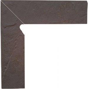 Semir Rosa Cokół Schodowy Dwuelementowy Strukturalny Lewy 30x8,1x1,1