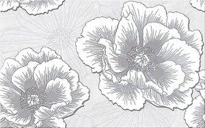 Ferrata Grey Inserto Flower 25x40