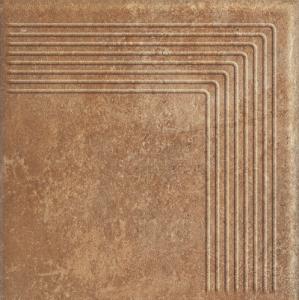 Scandiano Rosso Stopnica Narożna 30x30