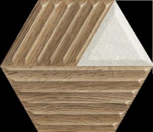 Woodskin Mix Heksagon Struktura C 19,8x17,1