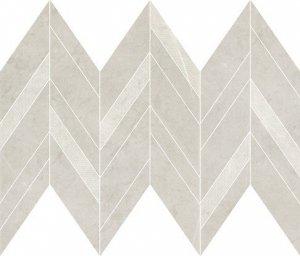 Manzila Grys Chevron Mix Mosaic Matt 25,5x29,8
