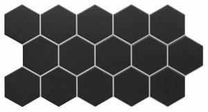 Hex Black 26,5x51