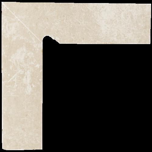 Cotto Crema Cokół Schodowy Lewy 2x30x8,1