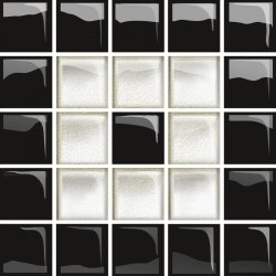OPOCZNO glass white/black mosaic c new 14,8x14,8 szt.