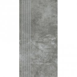 PARADYZ scratch nero stopnica prosta nacinana polpoler 29,8x59,8 g1