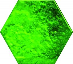 CERAMIKA COLOR green glass hexagon 12,5x14,5 szt g1