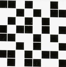 CERAMIKA COLOR Mozaika czarno-biala  25x25 g1 szt