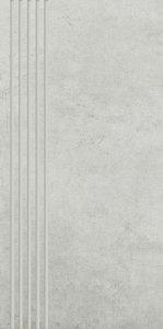 PARADYZ scratch bianco stopnica prosta nacinana mat. 29,8x59,8 g1