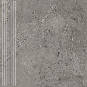 PARADYZ track grafit stopnica prosta 30x30 g1
