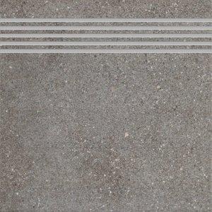 CERAMIKA KONSKIE leo graphite stopnica 33,3x33,3 szt g1