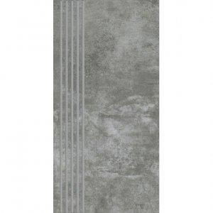 PARADYZ scratch nero stopnica prosta nacinana mat. 29,8x59,8 g1