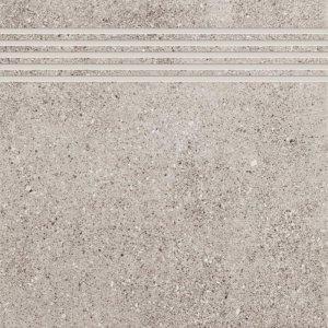 CERAMIKA KONSKIE leo grey stopnica 33,3x33,3 szt g1
