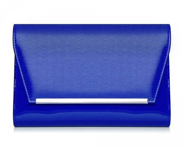 Kopertówka torebka wizytowa M10 Solome kobaltowa spiro przód