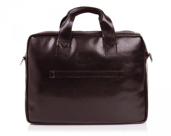 Skórzana torba na laptop Solome premier brązowa tył