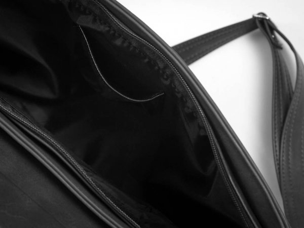 Torba męska na ramię Solome Ditroit czarna detal