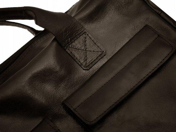Skórzana torba na laptopa Solome Windsor brązowa detal 1