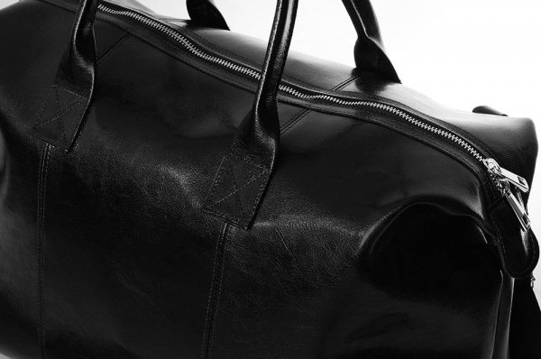 Torba podróżna weekendowa Solome Premier czarna detal