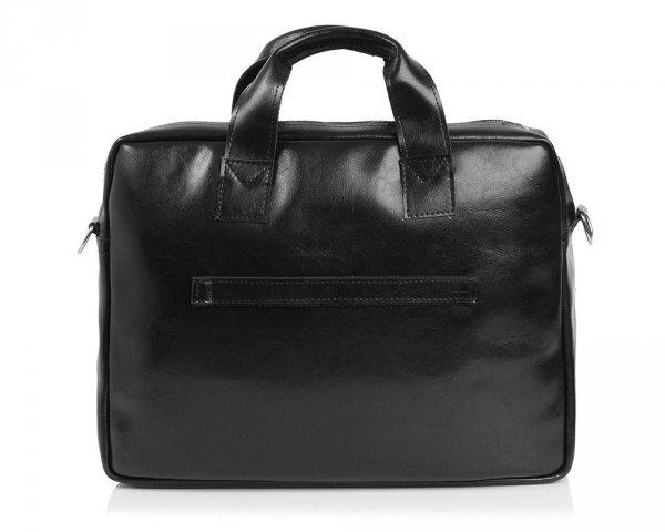 Skórzana torba na laptop Solome premier czarna tył