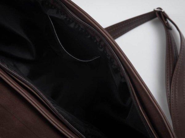 Torba męska na ramię Solome Ditroit ciemno brązowa detal
