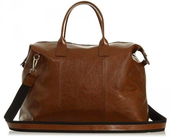 Skórzana torba weekendowa podróżna Solome Premier brązowa przód