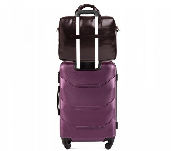 Skórzana torba na laptop Solome premier brązowa detal 2