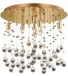 ZŁOTY PLAFON KRYSZTAŁOWY IDEAL LUX  MOONLIGHT PL8 080932 LAMPA KRYSZTAŁOWA GLAMOUR