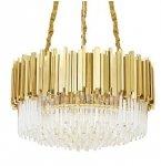 KRYSZTAŁOWA LAMPA WISZĄCA GLAMOUR IMPERIAL GOLD KING HOME