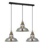 LAMPA WISZĄCA NAD STÓŁ LOFT ITALUX HUBERT MDM-2381/3 GD+SG CZARNA