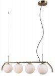 ITALUX CARIMI PND-3300-4-HBR LAMPA WISZĄCA SZKLANE KULE NOWOCZESNA MOSIĄDZ