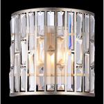 WEWNĘTRZNA LAMPA ŚCIENNA KINKIET MOSCOW W02103CP COSMO LIGHT KRYSZTAŁY ZŁOTA/SREBRNA KINKIET KRYSZTAŁOWY