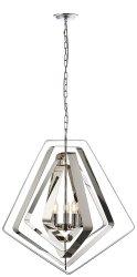 CHROMOWANA LAMPA WISZĄCA RIONA ENDON DESIGNERSKA ŚWIECZNIKOWA GLAMOUR