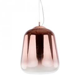 MIEDZIANA LAMPA WISZĄCA ITALUX LANILA MD-1712-3 SZKLANA KULA