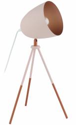 EGLO CHESTER-P 49038 PASTELOWA LAMPA STOŁOWA NOCNA NA TRÓJNOGU RÓŻOWA VINTAGE LOFT