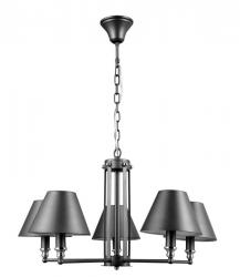 ITALUX LAMPA ŻYRANDOL BANITO MD38623/5 SZARY ANTRACYTOWY