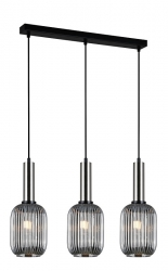 NOWOCZESNA SZKLANA LAMPA WISZĄCA ITALUX ANTIOLA PND-5588-3M-SC+SG DESIGNERSKA LOFT