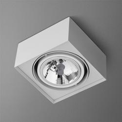 LAMPA SUFITOWA KWADRATOWA BIAŁA AQUAFORM SQUARES MINI 111x1 40110-0000-T8-PH-03