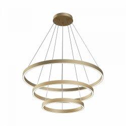 LAMPA WISZĄCA OKRĄGŁA ZŁOTA GLAMOUR RING MAYTONI RIM MOD058PL-L100BS4K RING ZŁOTE KOŁA LED