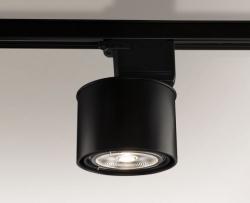 OGRĄGŁA LAMPA MIKI 6614 NA SZYNOPRZEWODZIE CZARNA SHILO