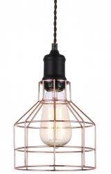 MIEDZIANA LAMPA WISZĄCA VINTAGE ITALUX PERIFO MDM-2266/1 BK+COP