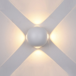 LAMPA ELEWACYJNA ITALUX CARSOLI PL-307W BIAŁA LEDOWA