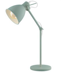 LAMPA STOŁOWA BIURKOWA EGLO PRIDDY-P 49097 PASTELOWA ZIELEŃ VINTAGE LOFT